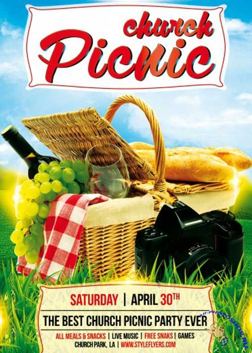 Family Picknic PSD Flyer Template Free Download 6993