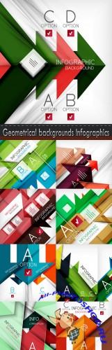 Geometrical backgrounds Infographics
