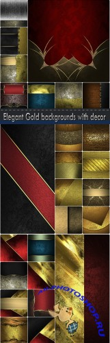 Elegant Gold backgrounds with decor