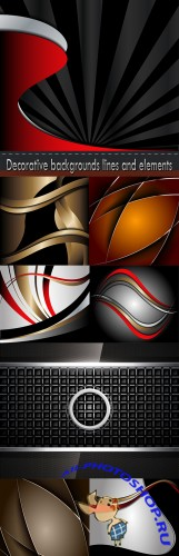 Decorative backgrounds lines and elements