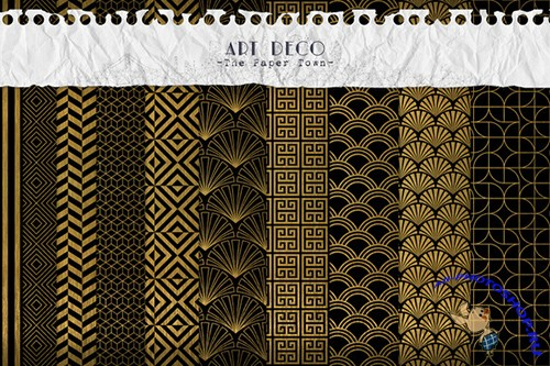 Art Deco Digital Backgrounds - Creativemarket 321531
