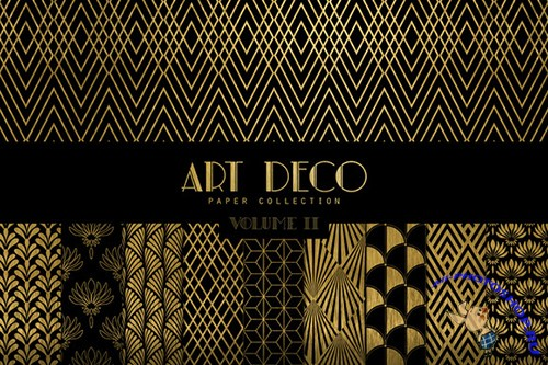 Art Deco Digital Papers Vol. 2 - Creativemarket 383979