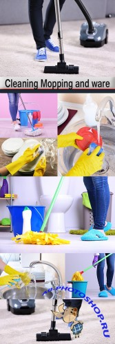 Cleaning Mopping and ware