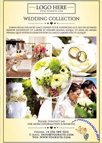 Wedding Photography V1 Premium Flyer Template