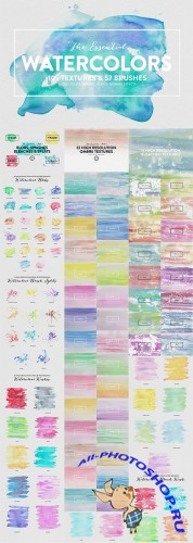 The Essential Watercolors - Creativemarket 113633
