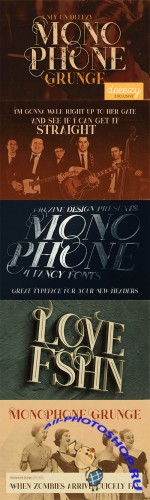 Monophone Grunge Font
