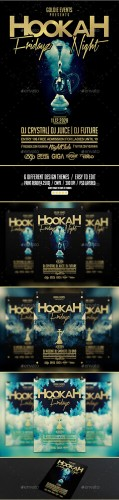 GraphicRiver - Hookah Fridayz Night | Party PSD Flyer Template 10843732