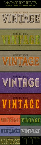 GraphicRiver - 10 Vintage Text Effects 10848058