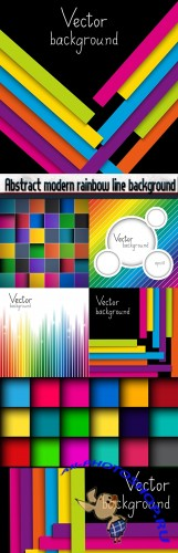 Abstract modern rainbow line background