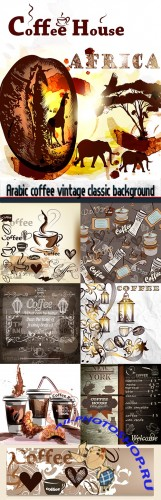 Arabic coffee vintage classic background