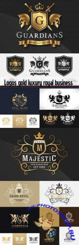 Logos gold luxury royal business