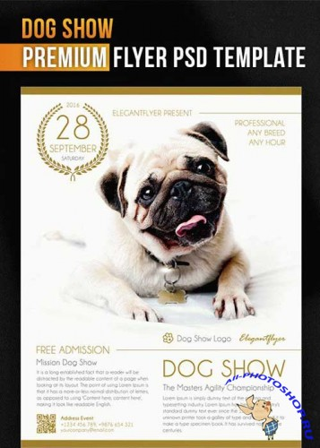 Dog Show V1 Flyer PSD Template + Facebook Cover