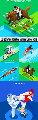 3D Isometric Athletics Summer Games Icons