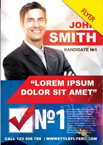 Political Campaign PSD V6 Flyer Template