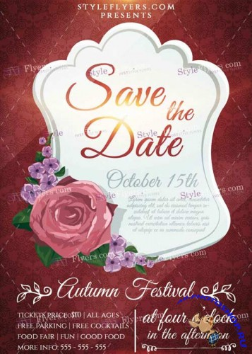 Save The Date PSD V1 Flyer Template