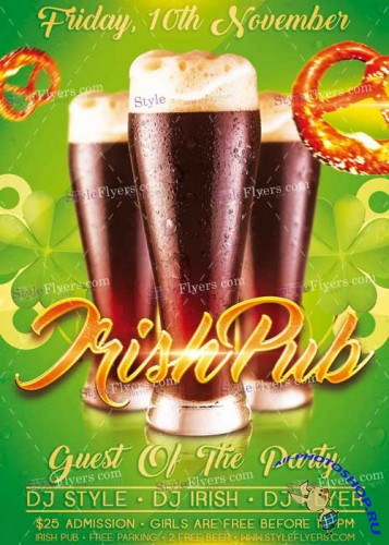 Irish Pub V1 PSD Flyer Template