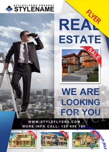 Real Estate V9 PSD Flyer Template
