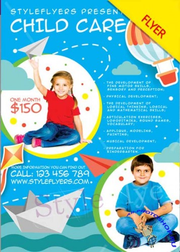 Child Care V1 PSD Flyer Template