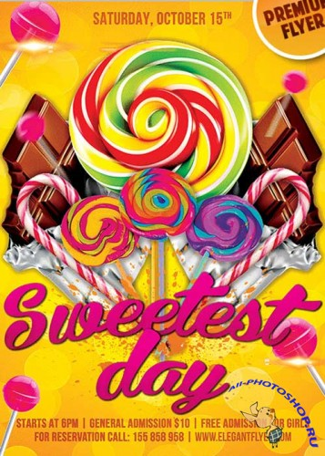 Sweetest Day V7 Flyer PSD Template + Facebook Cover