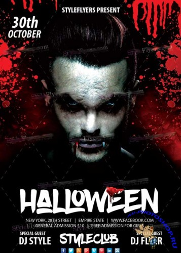 Halloween PSD V17 Flyer Template