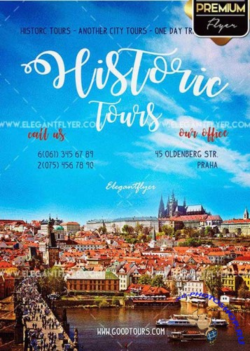 Historic Tours V1 Premium PSD Template + Facebook cover