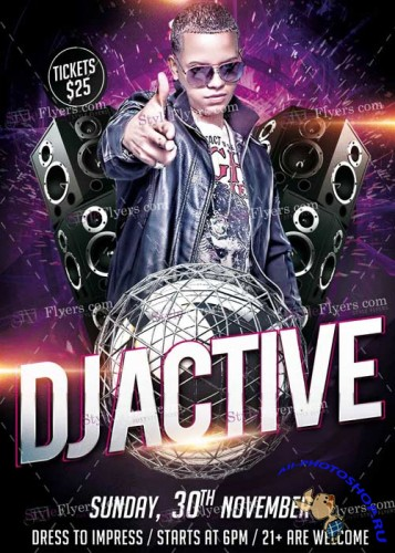 Dj Active V7 PSD Flyer Template