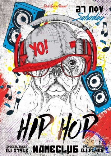Hip-Hop V6 PSD Flyer Template