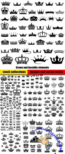 Crown and heraldic elements