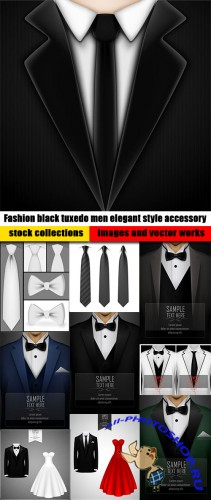 Fashion black tuxedo men elegant style accessory