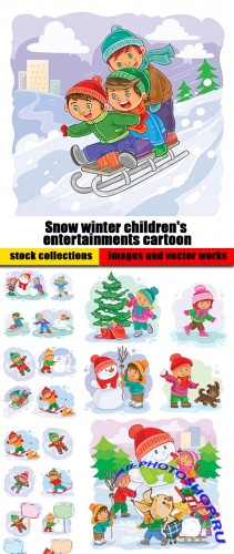 Snow winter children's entertainments cartoon
