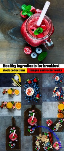 Healthy ingredients for breakfast