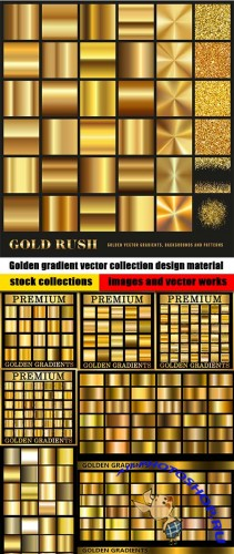 Golden gradient vector collection design material
