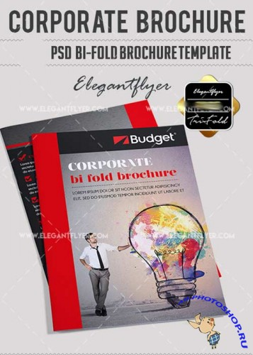 Corporate PSD V12 Bi-Fold PSD Brochure Template