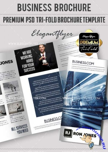 Business Premium Tri-Fold PSD V10 Brochure Template