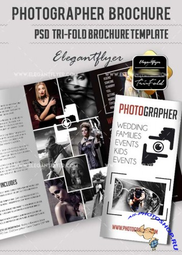 Photographer PSD V6 Tri-Fold PSD Brochure Template