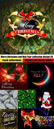 Merry Christmas and New Year collection design 20