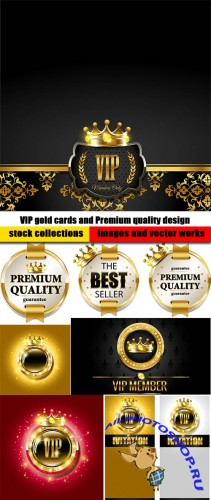 VIP gold cards and Premium quality design