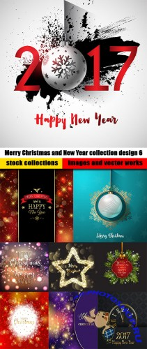 Merry Christmas and New Year collection design 6