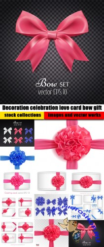 Decoration celebration love card bow gift