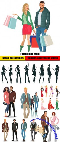 Female and male - Fashion shopping