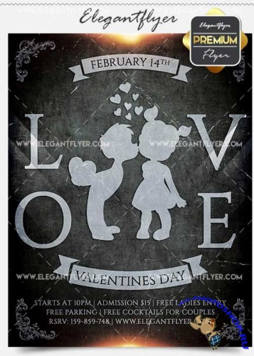 Love Party Flyer PSD V13 Template + Facebook Cover