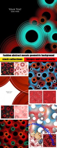 Fashion abstract mosaic geometric background