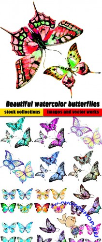 Beautiful watercolor butterflies