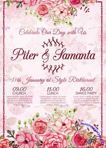 Wedding PSD V15 Flyer Template