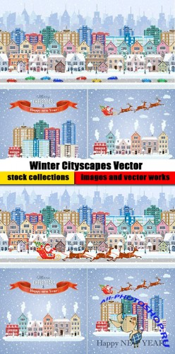 Winter Cityscapes Vector