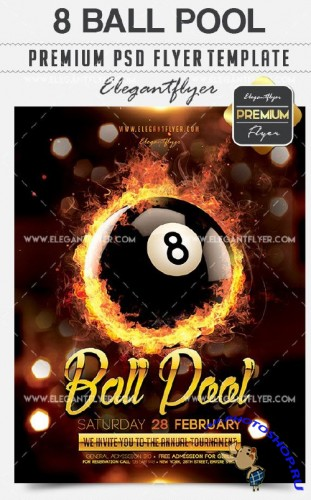 8 Ball Pool Flyer PSD V1 Template + Facebook Cover