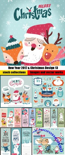 New Year 2017 & Christmas Design 13