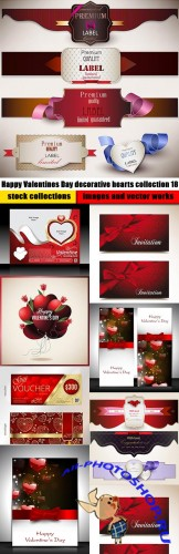 Happy Valentines Day decorative hearts collection 18