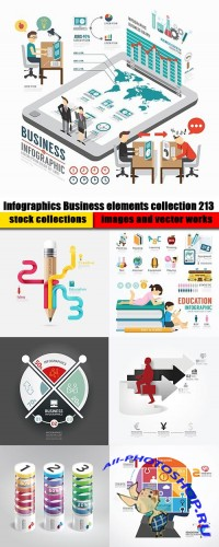 Infographics Business elements collection 213