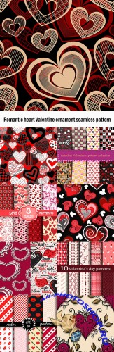 Romantic heart Valentine ornament seamless pattern